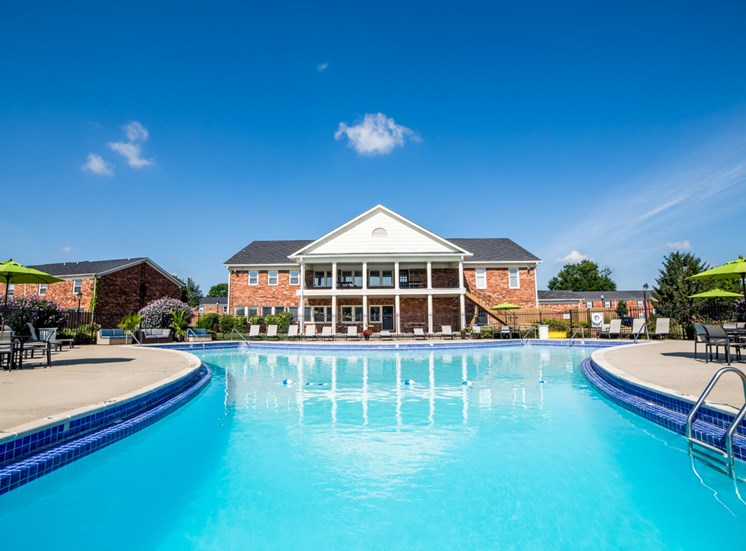 Exterior Clubhouse with Pool